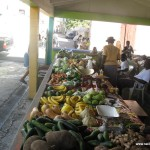 The produce market in Nevis